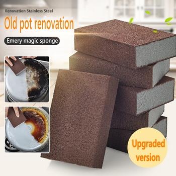 Akcesoria kuchenne Emery gąbka Nano magiczna gąbka do usuwania czyszczenia rdzy gadżet bawełniany odkamienianie czyścik Pot Kitchen Tool tanie i dobre opinie LISM Other Ce ue Lfgb Ekologiczne Zaopatrzony Gadget Kitchen accessories
