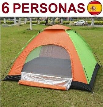Tienda de campaña para 6 plazas, impermeable, acampada, carpa iglú