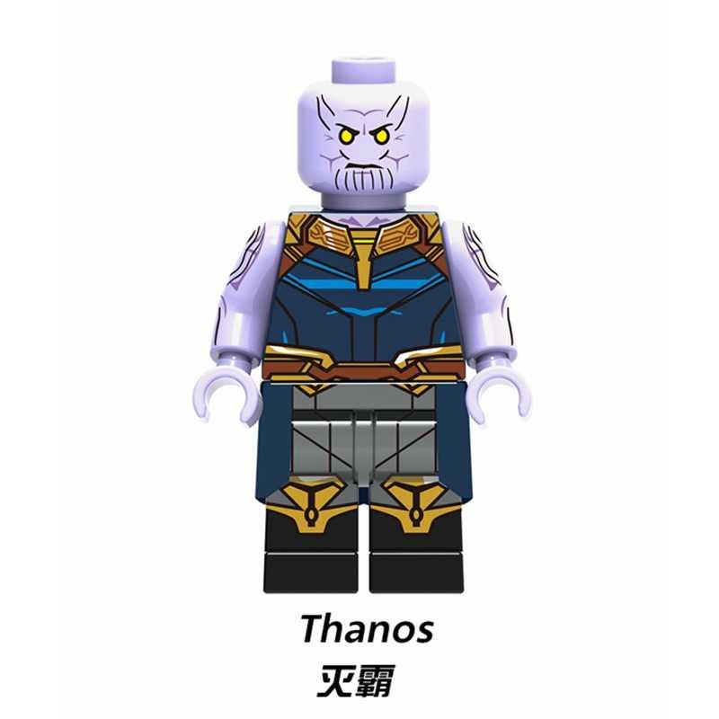 กัปตัน America Avengers Endgame ตัวเลข Iron Man Thor Spiderman Thanos Steve Peggy Marvel Super Heroes อาคารบล็อกของเล่น