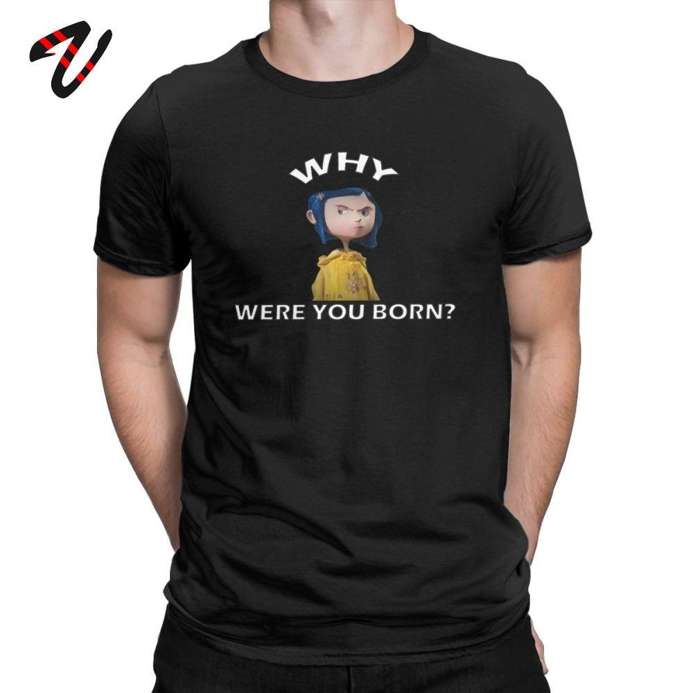 Coraline Tshirt Men S Movie T Shirts Newest Wybie Halloween Tee Shirt Father Day Gift T Shirts Summer Cotton Short Sleeve Tops T Shirts Aliexpress