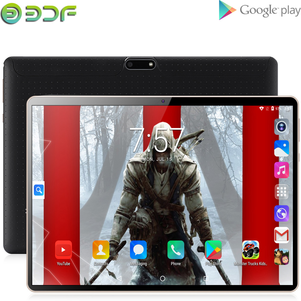 New 10 Inch Original Design 3G 4G Phone Call Android 7.0  Octa Core 4G+64G Android Tablet Pc WiFi Bluetooth GPS IPS Tablets 10.1