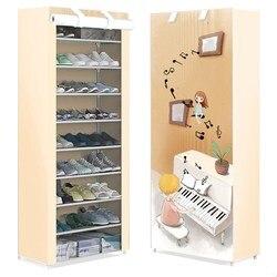 Stojak na buty proste wielowarstwowe pyłoszczelne gospodarstwo domowe typu economy space dormitorium drzwi buty w małym rozmiarze półka do przechowywania szafka na buty w Półki i organizatory na buty od Dom i ogród na