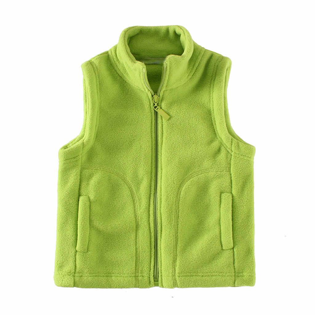 幼児子供ガールズボーイズ赤ちゃん冬暖かいカラフルなコートベストジッパー厚手のパーカー上着子供服 Cocuk Mont 新到着