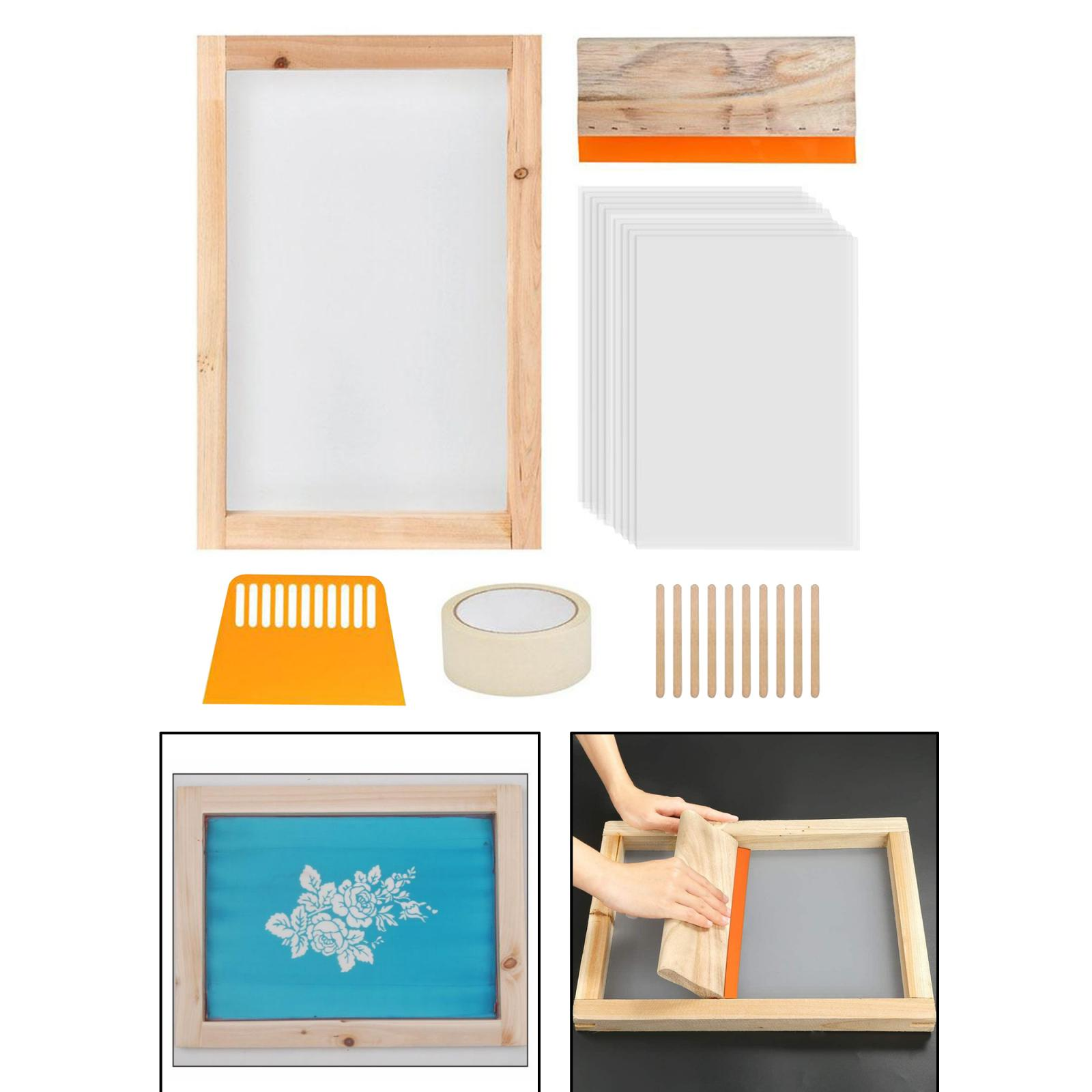 Купить 24 шт трафаретная печать стартовый набор для начинающих художественные