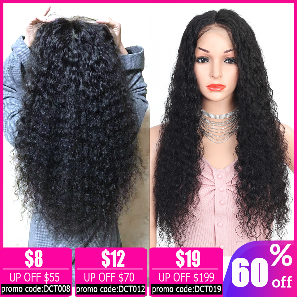 Deep Wave Wig 13x4 Lace Front Wig Brazilian Pixie Cut Wig Short Bob Lace Front Human Hair Wigs For Women Non-remy 150% Density