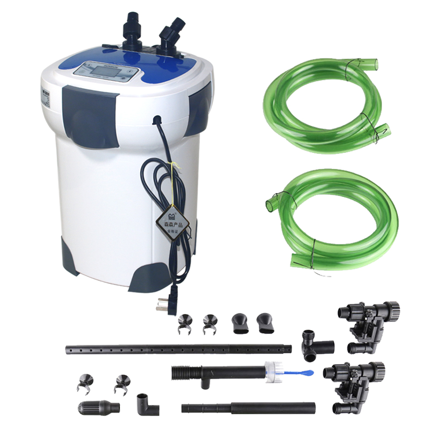 SUNSUN Aquarium Filter HW-3000 LCD Monitor 6-section Adjustable Flow 3000L/h With 9W UV Sterilizer For Fish Tanks Up To 300-750L