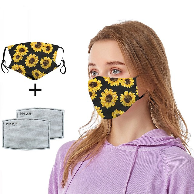 #H25 women Cotton PM 2.5 mouth Mask anti dust mask Activated carbon filter Windproof Mouth-muffle proof Face masks Care 5