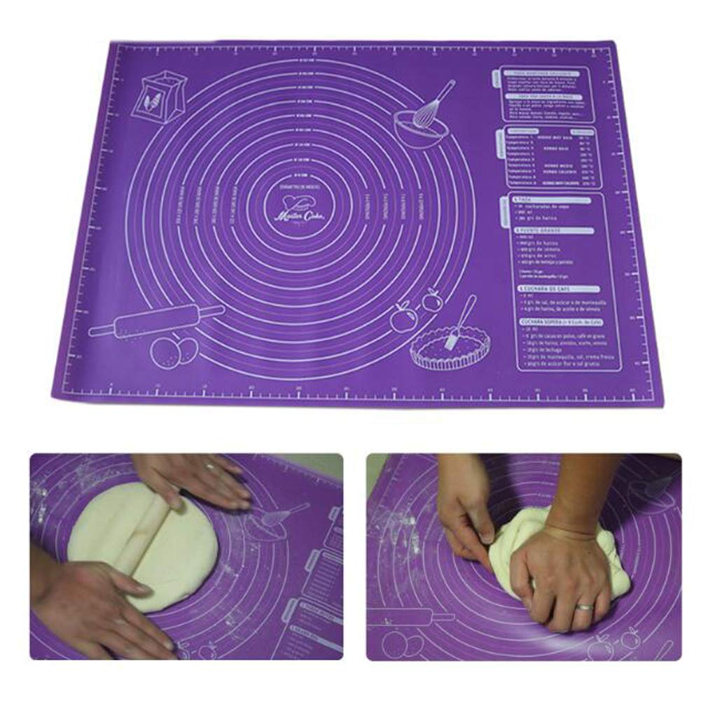Non-Stick Silicone Pad Baking Sheet Cupcake Dessert Soap Rolling Kneading Mat Baking Mat with Scale Pastry Fondant Mat 45x60cm