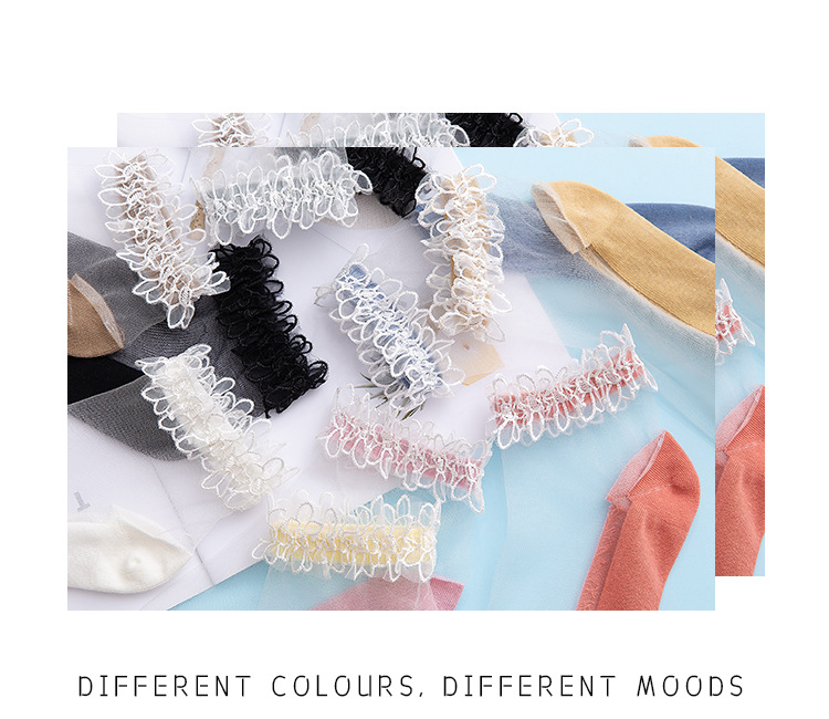 Hdb420c11b99044f6b5ffa9c51a2868c4e - Flowers Lace Ladies Sheer Socks Transparent Thin Crystal Silk Elastic Cotton Sole Elegant Women Ankle Socks New Girls Hosiery