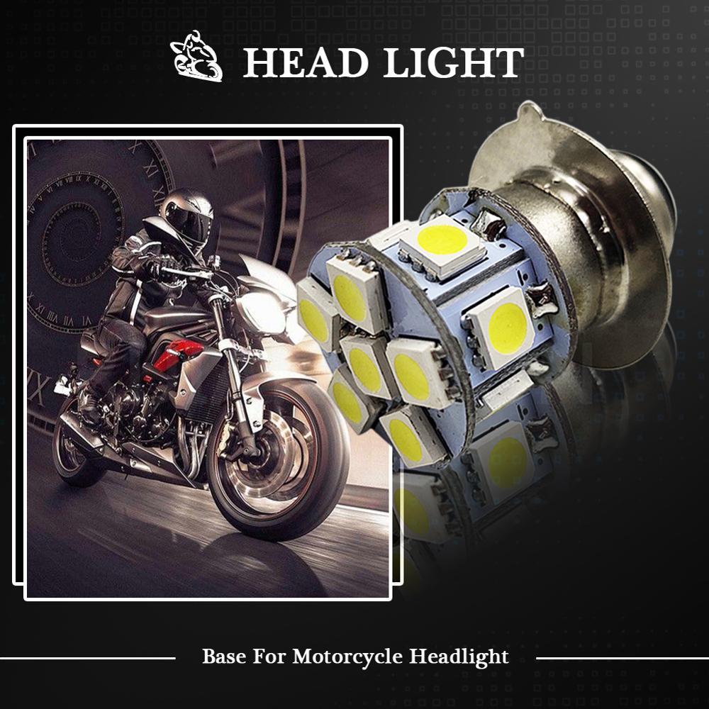 Купить 6 в 12 в неполярный h6m p15d 12smd 5050 светодиодный мотоцикл
