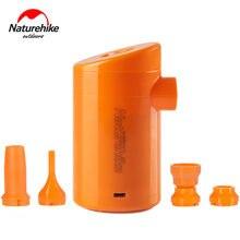 Naturehike Elétrica Bomba Pneumática 4 Interface ABS Multifuncional Portátil Bomba Para Colchão Inflável Ao Ar Livre Travesseiro Cama de Ar