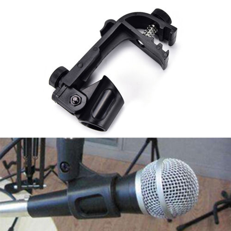 1PC Professional Adjustable Microphone Clips On Drum Rim Anti-shock Mount Clamp Stand Holder Tool For SM-58 / SM-57