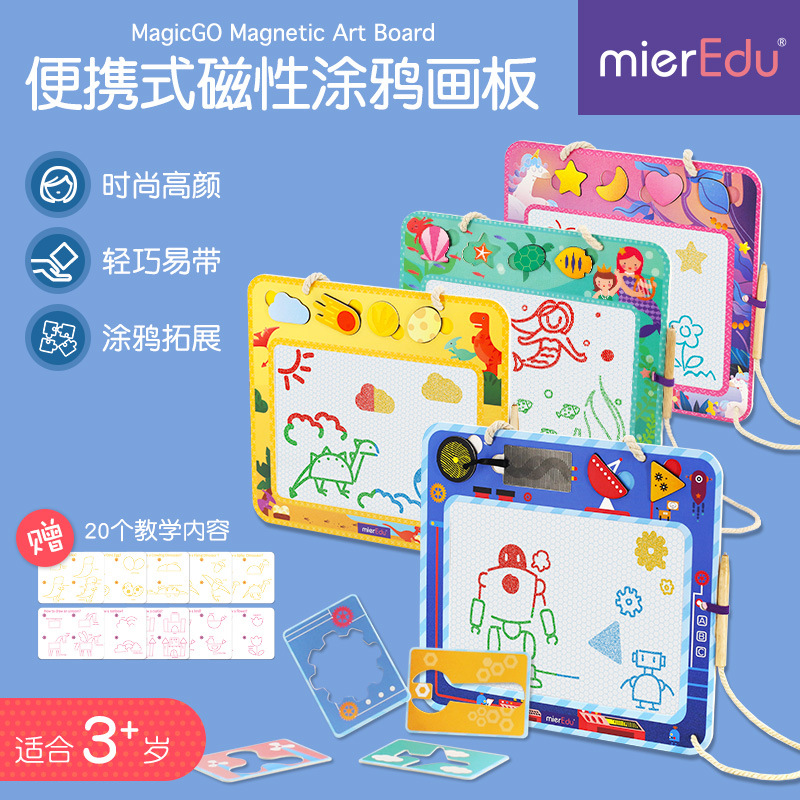 Educational New Australia Mieredu Gameplay Portable Magnetic Drawing Board Children Doodle Toy Four-Pattern