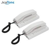 Jeatone-sistema de intercomunicación inalámbrico, interfono seguro, auriculares Ampliables para almacén, oficina, interfono, casa, teléfono voip