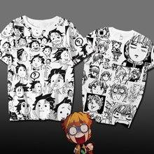 Аниме Demon Slayer: Kimetsu no Yaiba Agatsuma Косплей Футболка Kamado Tanjirou expression animation футболка хлопок мужские футболки топы