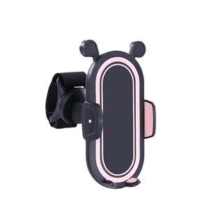 Image 5 - Rk 360 gradi ruota accessori passeggino supporto universale staffa di montaggio regolabile supporto per cellulare nero bianco rosa