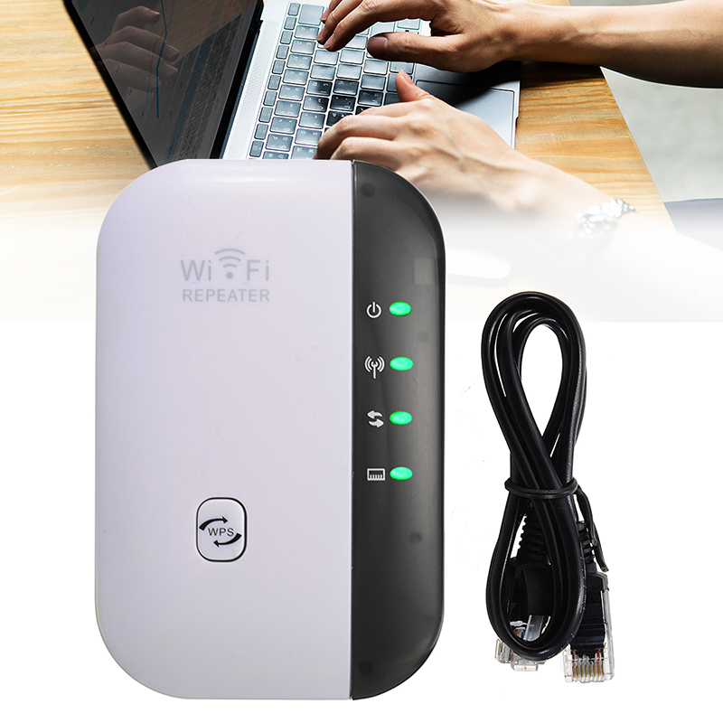 1SET 300Mbps Signal Amplifier Extender Booster Network Wifi Repeater Wireless-N AP Range 802.11 + 1M RJ45 Cable EU Plug