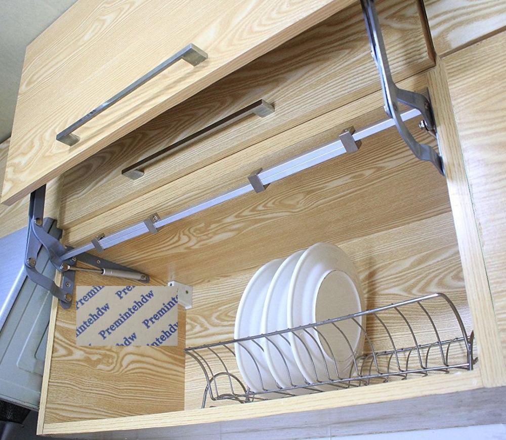 Ascenseur mécanisme Support Vertical balançoire levage rester jambe de force cylindre hydraulique armoires de cuisine porte rabat Support micro-ondes