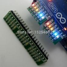 5 pièces DC 3 12V 6 bits multicolore LED carte pour Arduino DUE UNO MEGA2560 MEGA Leonardo Tre zéro Ethernet bouclier 3d imprimante