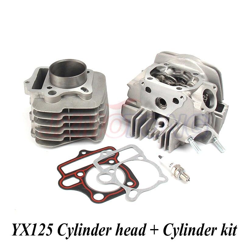 Kit complet de Piston de cylindre de culasse de cylindre de moteur pour YX125 125CC