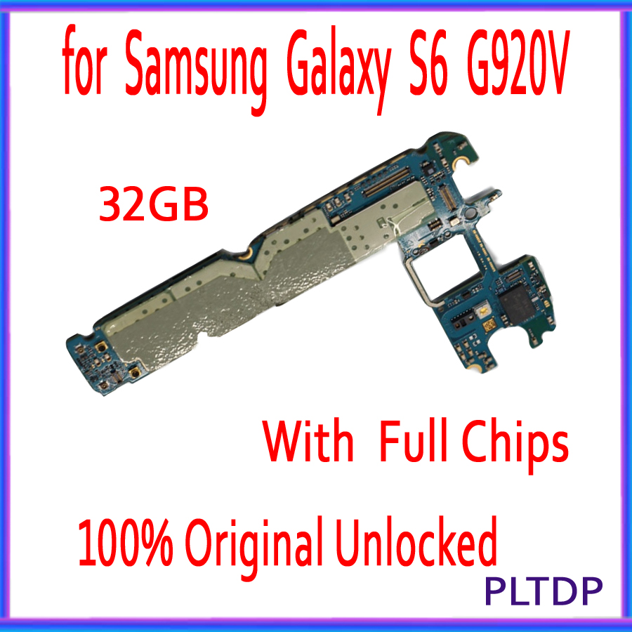 with Full Chips for <font><b>Samsung</b></font> <font><b>Galaxy</b></font> <font><b>S6</b></font> G920V Motherboard,32GB Original unlocked for <font><b>Samsung</b></font> G920V Circuit <font><b>board</b></font>,100% Good Tested image