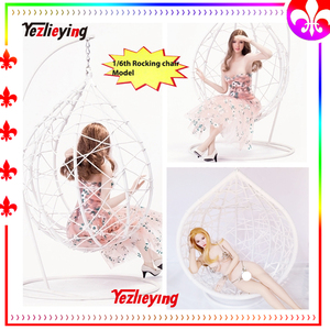 1/6 scale action figure accessories Stage Eggshell Hanging Swing Metal Chair Model Sofa Stool Rocking Chair f 12''Doll Scene