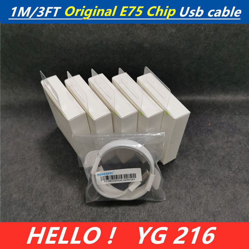 E75-Chip Data-Usb-Charger Foxconn I6 IPhone X Original Cable 1 For Genuine 1pcs/Lot Ios