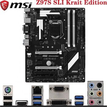 MSI Z97S SLI Krait Edition For LGA1150 4th/5th Intel Core i7/i5/i3/Pentium/Celeron HDMI LGA-1150 Z97 ATX Desktop PC Motherboard intel core i5 4430s i5 4430s processor 6m cache 2 7ghz lga1150 desktop cpu