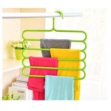 5 слоев Non-slip вешалка для одежды мульти-функциональные Брюки Одежда Вешалка Деревянные Многослойные хранения шарф галстуком-бабочкой Магия вешалка