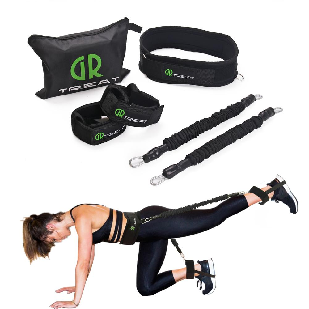Booty Band Set - Workout Resistance Bands - Booty Butt System For A Bikini Butt Abs Glutes Muscle Workout With Adjustable Waist