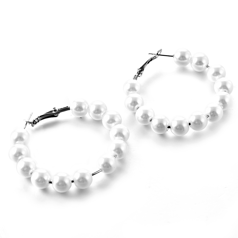 2019 New Fashion Big pearl Stud Earrings For Women Bohemian Statement Simulated pearl Earrings Hot Charm Jewelry 4