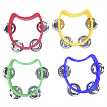 Bell Tambourine Musical-Instrument Hand-Held Plastic for KTV Party Kid Game-Toy 1pc Percussion