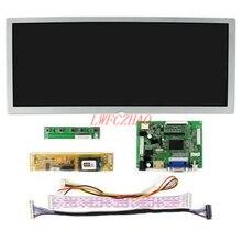 Оригинальный комплект монитора LQ123K1LG03, 12,3 дюйма, 1280x480, ЖК-экран, дисплей, плата драйвера контроллера HDMI + VGA + DVI 2AV