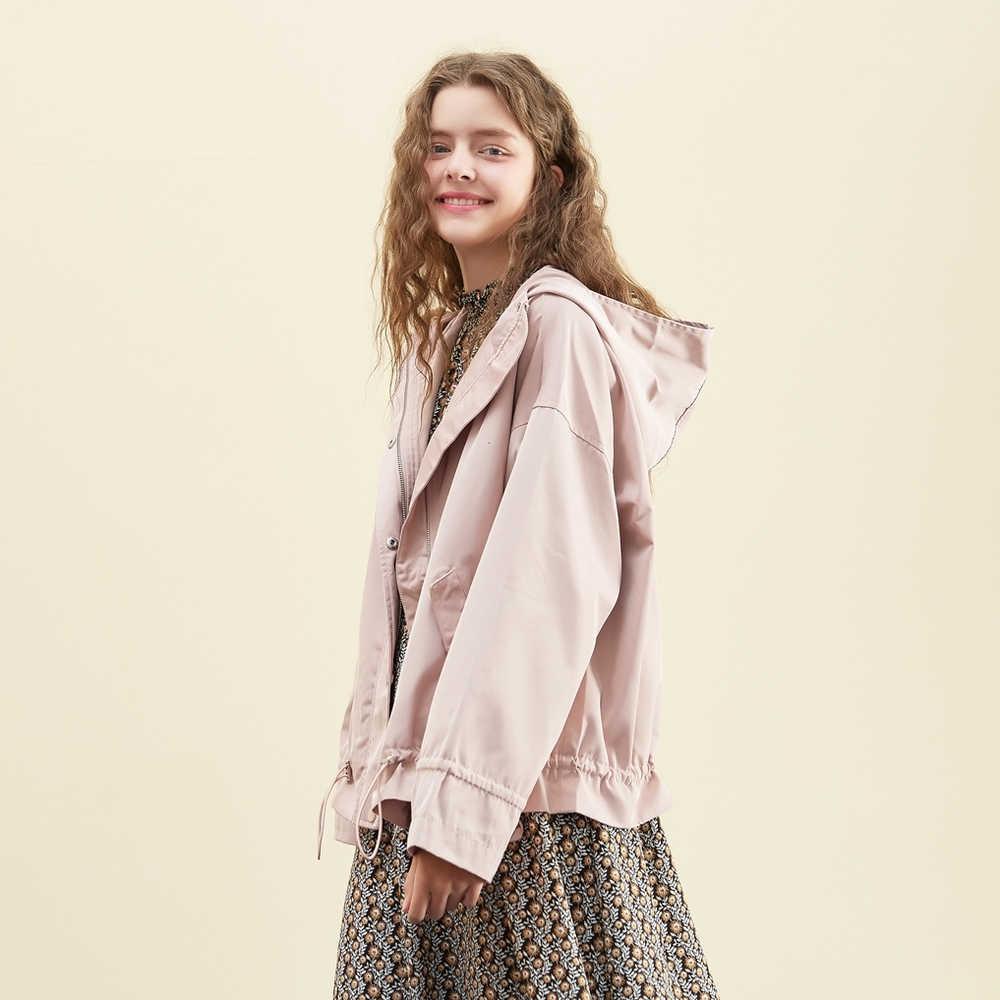 Marca Metersbonwe, chaqueta nueva de primavera, moda Casual para mujeres, literatura suelta y arte con capucha, Linda Chaqueta corta, tops casuales de moda