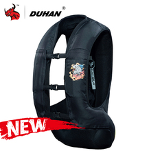 DUHAN Neue Motorrad Jacke Air tasche Weste Motorrad Weste Air Tasche System Schutz Getriebe Reflektierende Motorrad Airbag Moto Weste