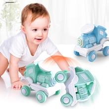 1:36 Mini Inertia Four-Wheel-Drive Train Vehicle Children Simulation Model Car Pull Back Stunt Toys For Gifts