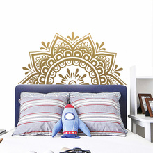 Home Decor Vinyl Wall Decals Bohemian Style Mandala Headboard Sticker Half Datura Bedroom Decoration Yoga Studio DIY Murals Y95