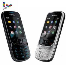 Sbloccato originale Nokia 6303 Classic 6303C FM GSM Telefono Mobile di Sostegno Russo Tastiera Del Telefono Delle Cellule di trasporto libero