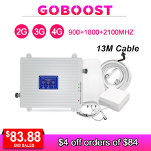 2G 3G 4G Tri Band Signal Repeater GSM 1800 2100 LTE Cellular Signal Booster Mobile Phones Amplifier AGC GSM 3G 4G Antenna Kit - gsm 3g 4g lte cellular sms remote control alarm for water level tank pump farm irrigation automatic control s140
