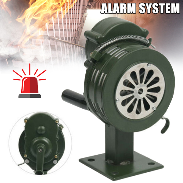 Crank Hand Operated Air Siren Horn Fire Emergency Security Alarm Aluminum Alloy NC99
