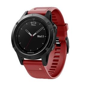 Image 2 - 20 22 26mm Silikon Sport Silikon Armband Armband für Garmin Fenix 5X 6X Pro 5 6 935 5s plus 6s 3 3HR Uhr Easyfit Handgelenk Band