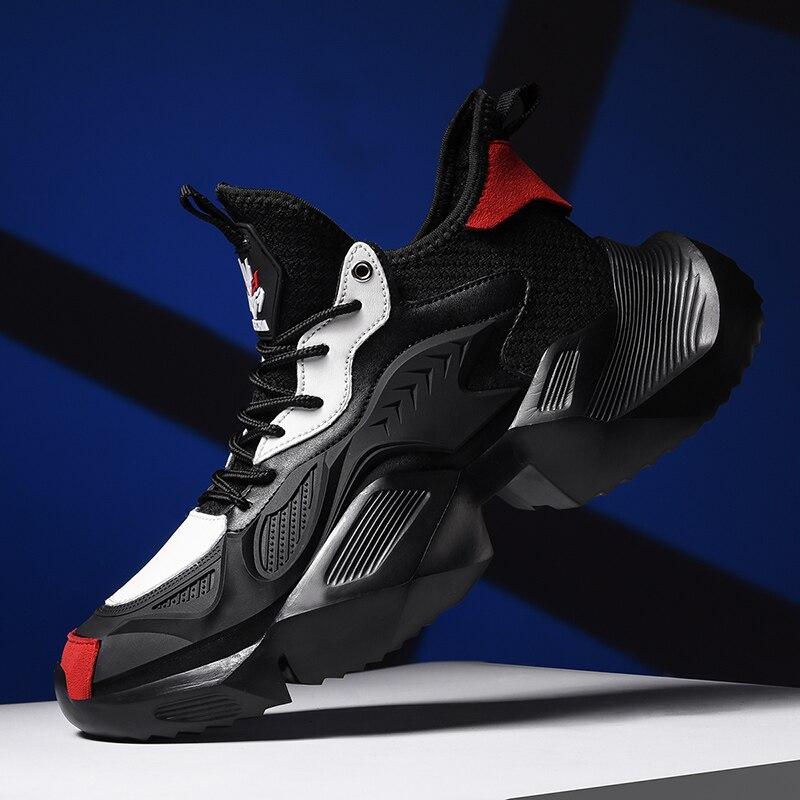 2019 nowe trendy buty sportowe męskie wysokie góry mężczyźni buty deformacja maszyna Casual Zapatillas Hombre Plus rozmiar 46 wodoodporne buty sportowe