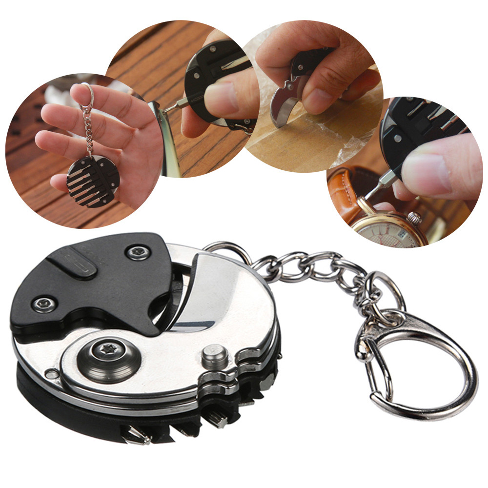 Hanging Folding Multi-function Screwdriver Cutter Watch Repair Tool Portable NEW