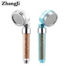 все цены на Water saving  Quality Pressurized Bathroom shower head Round 90mm handhold Stainless steel panel rain shower head Sprayer ZJ013 онлайн