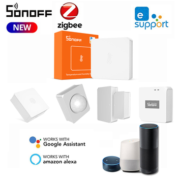 SONOFF SNZB-02 ZigBee Temperature And Humidity Sensor Real Time Notification On E-WeLink App Work With SONOFF ZBBridge