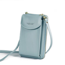 Newly Wallets With Single Chain For Women Long Design Ladies Small Bag Pouch PU Leather Purse Monederos Para Mujer 2020