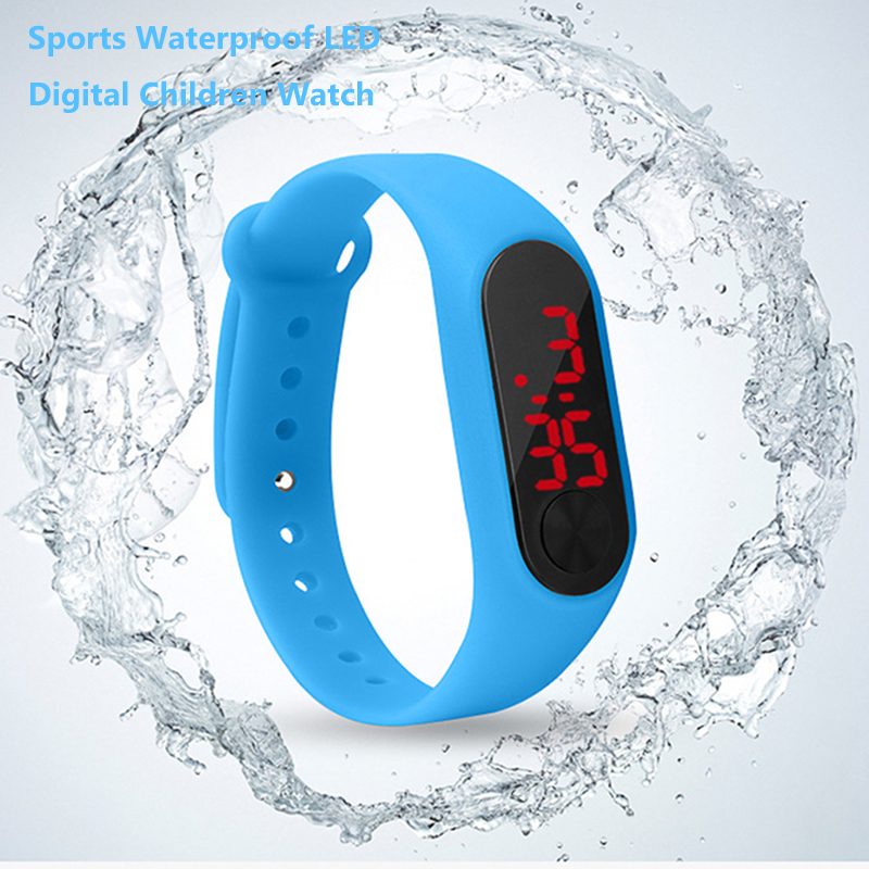 Children's Watch Electronic Digital Boy And Girl Watch Time Waterproof Wearable Device Multi-color Optional Child's Best Gift