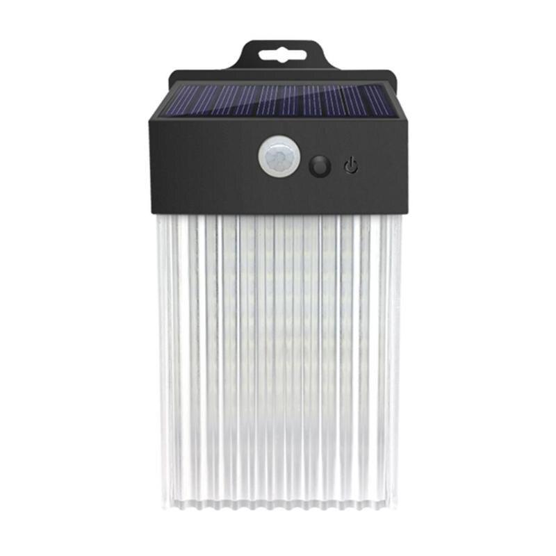 Square 50 LED Solar Wall Mounted Lamp Intelligent Light Control Human Infrared Sensor 3 Mode Human Induction Waterproof Light
