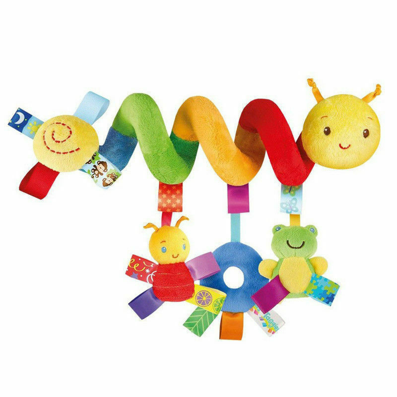 2020 Lovely Animal Development Cot Baby Cart Hanging Baby Rattle Toy Soft Plush Rabbit Musical Doll Bed Bell Educational Toys