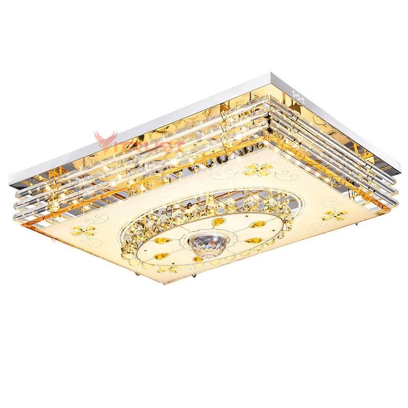 Mordern Светодиодный потолочный светильник с кристаллами, лампа RGB с регулируемой яркостью, 220 В, приложение Bluetooth и музыкальный динамик, цветна... - 6